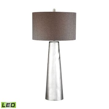 Tapered Cylinder Mercury Glass LED Table Lamp Mercury Glass
