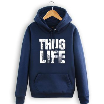 HCXX Thug life Casual 2pac Hooded Sweatshirts