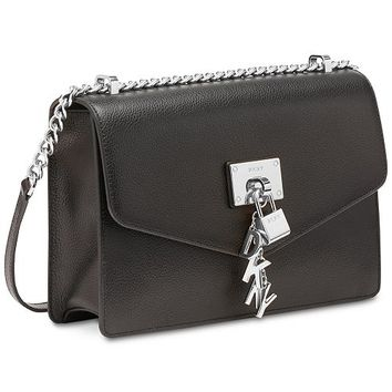 DKNY Elissa Leather Chain Strap Shoulder Bag, Created for Macy's & Reviews - Handbags & Accessories - Macy's