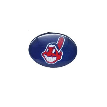 Snap Button 18mmX25mm MLB Cleveland Indians Charms Snap Bracelet for Women Men Baseball Fans Gift Paty Birthday Fashio 2017
