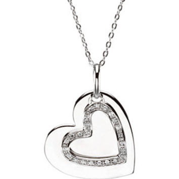 Mother & Son Heart Necklace