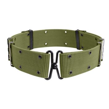 GI Style Pistol Belt With Metal Buckles