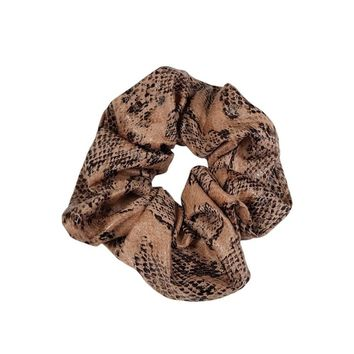 Deadstock Faux Leather Snakeskin Scrunchie