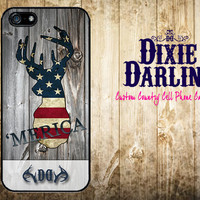 American Inspired iPhone 6 / iPhone 6 Plus / iPhone 5/5s / iPhone 5c / iPhone 4/4s / Rustic Country Cell Phone Case - 'Merica Buck (CP0404)