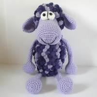 Crocheted amigurumi toy -Cute purple sheep/lamb