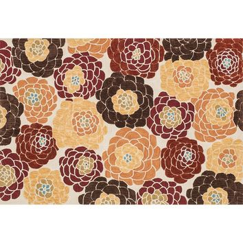 Loloi Gabriella Floral Rug (Orange)