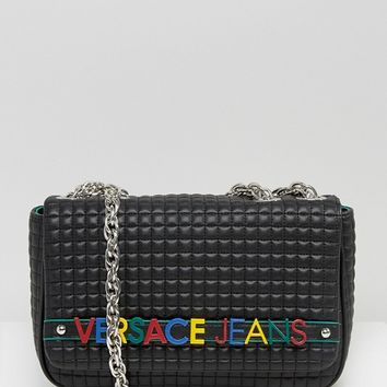 Versace Jeans Shoulder Bag with Coloured Letters at asos.com