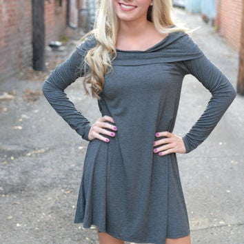 Falling For You Gray Tunic