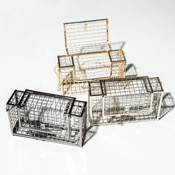 Hollow Metal Cages Party Clutch