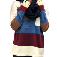 Evonne Striped Sweater with Pocket