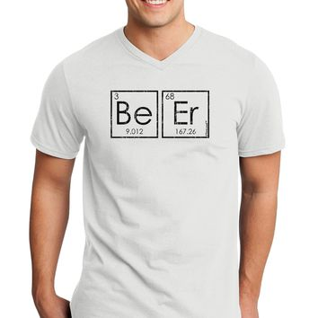 Be Er - Periodic Table of Elements Adult V-Neck T-shirt by TooLoud