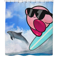 Kirby Hitting The Waves Curtain