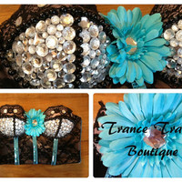 Blue Daisy Bustier by TranceTrampBoutique on Etsy