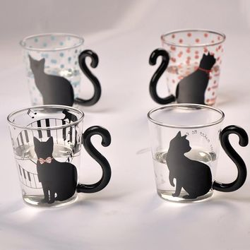 Cute Novelty Cat Kitty Mug / Glass