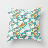 sweetly Throw Pillow by virginia odien | Society6