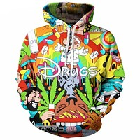 Drugs Cartoon Hoodies - Parody Sweatshirt