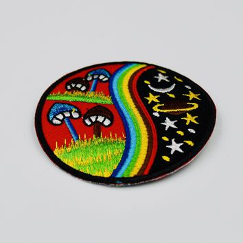 Psychedelic Mushroom Patch Embroidered Iron On Patches