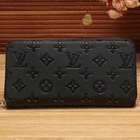 LV Louis Vuitton Women's Shopping Fashion High Quality Leather Zipper Wallet F