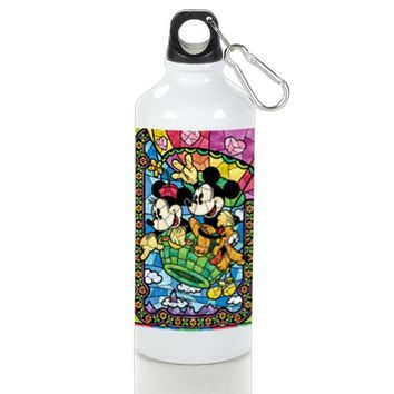 Gift Sport Bottles | Mickey Mouse Minnie Mouse Stained Glass Aluminum Sport Bottles
