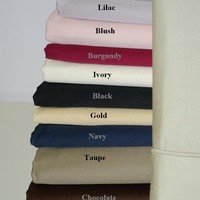 Queen/Standard Solid Pair pillow cases 1000 Thread count 100% Egyptian cotton