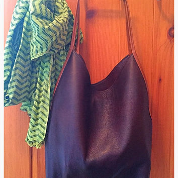 Slouchy Suede and Leather Tote