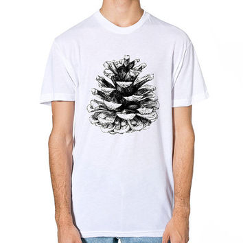 Pine Cone T Shirt, Mens T-shirt, T Shirt Men, T Shirt Women, Pine Cone Illustration, American Apparel, Womens Fashion, Tee Shirt Unisex Gift
