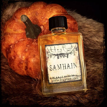 SAMHAIN (Chocolate, Vanilla, Pumpkin, Coffee, Blackberry, Cinnamon, Caramel, Patchouli, Birch Tar) Halloween Perfume Oil, Ritual Oil