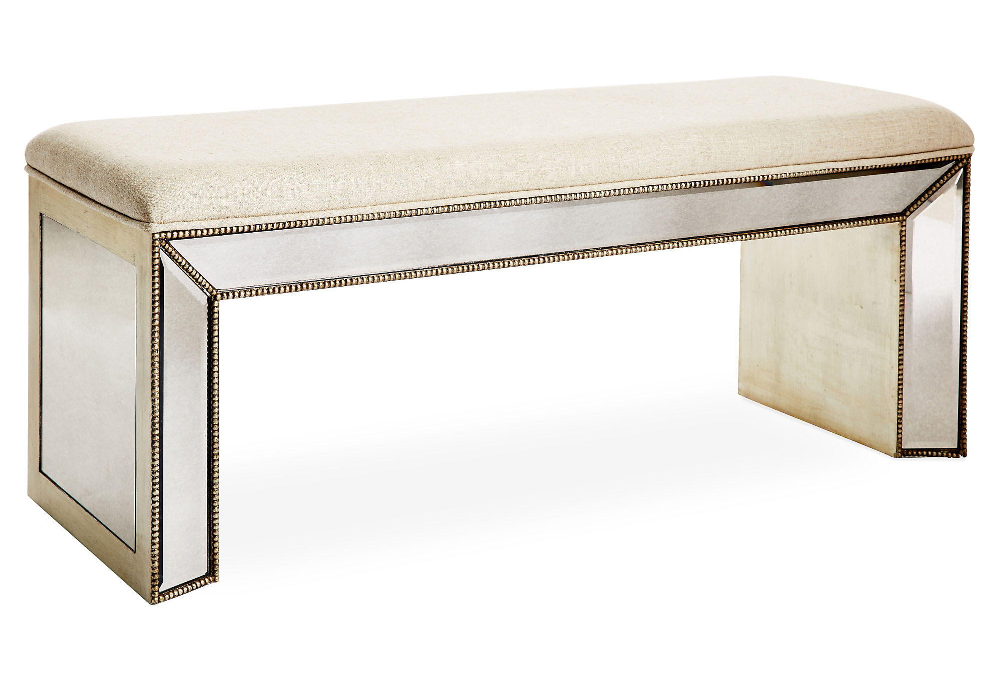 Bench Jane Mirrored Bedroom Bench From One Kings Lane