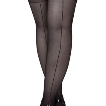 Plus Size Seamed Thigh Highs