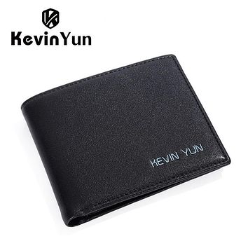 PU leather men wallets purse designer Slim wallet