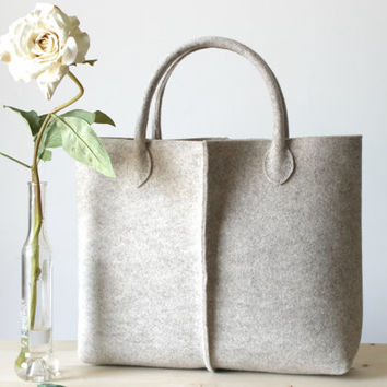 Elegant And Casual Wool Felt Bag From Italy Tote Market Ba
