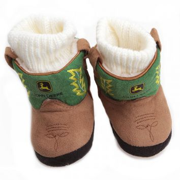 John Deere Baby Boot Slippers