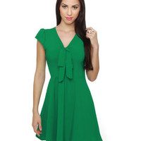 Adorable Green Dress - Short sleeve dress - $ 35.00