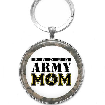 Pendant Keychain, Proud Army Mom