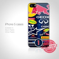 Sebastian Vettel Sticker Bomb F1 Champion RedBull Team iPhone 5 Case