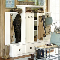 Beadboard Entry Cabinet with Doors | Ballard Designs