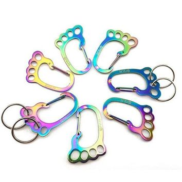 CREY3F High quality Climbing Hook Stainless Steel Key Chain Camping Hiking Outdoor Carabiner tool Outdoor Tool