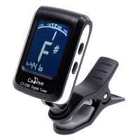 Clip-On Guitar Tuner w/LCD Display