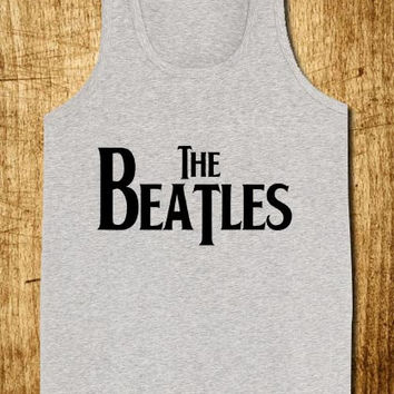 The Beatles Logo for Tank Top Mens and Tank Top Girls