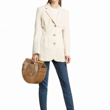 LANAI LINEN BUTTON BLAZER