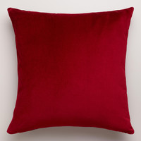 Red Velvet Throw Pillow - World Market