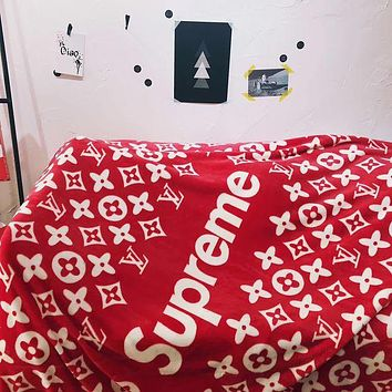 Supreme x Louis Vuitton Warm Flannel Blanket