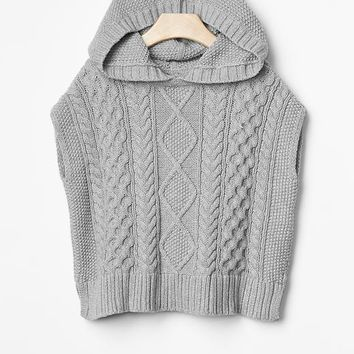 Gap Baby Cable Knit Bear Sweater Poncho
