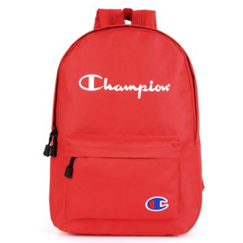 Champion shoulder bag men and women bag couple travel backpack Red