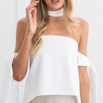KEEPING FAITH TOP (WHITE)