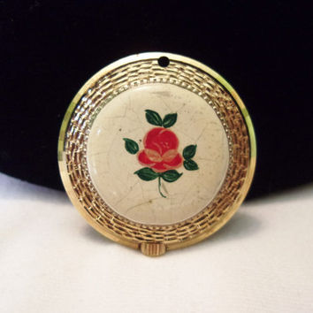 Burgana King Flower Swiss Made Wind Up Vintage Ladies Watch Pendant for Necklace 17 Jewels