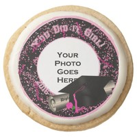 You Did it Girl,Graduation 2016-Shortbread Cookies Round Premium Shortbread Cookie