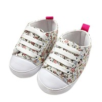 shoes baby 2016 kids canvas shoes Soft Soled Anti-slip Floral baby shoes girls kids first walkers baby booties bebes nice LD