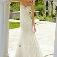Mermaid Beading Floor-length Wedding Dress