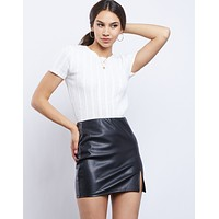 Daring Vegan Leather Skirt